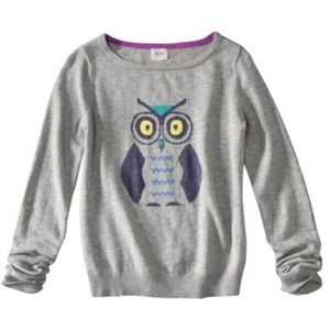 MOSSIMO owl gray pullover sweater size extra large